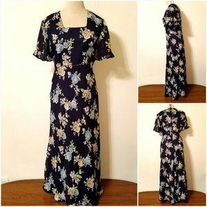 Vintage Miss Dorby Floral Long Dress